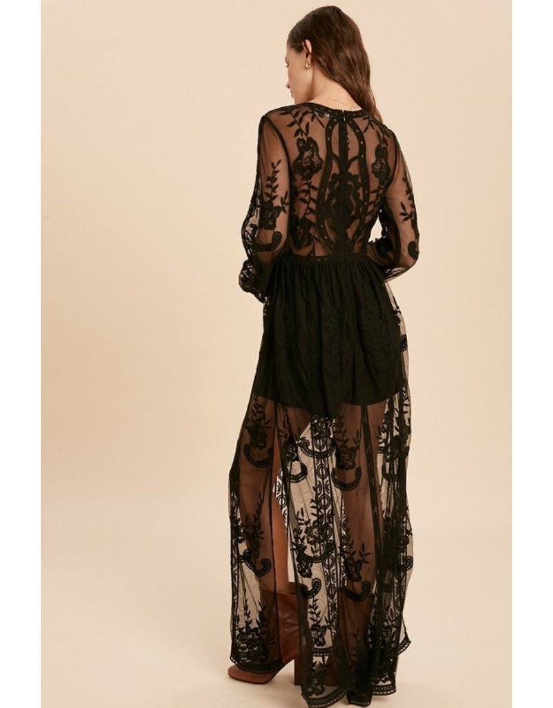 The Wanna Be Yours Lace Maxi Dress
