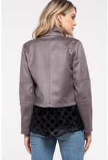 The Blaise Cropped Moto Jacket