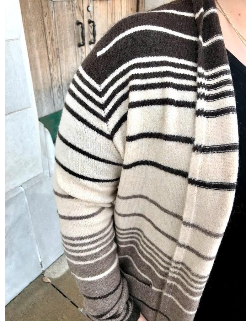 The Archer Striped Knit Cardigan