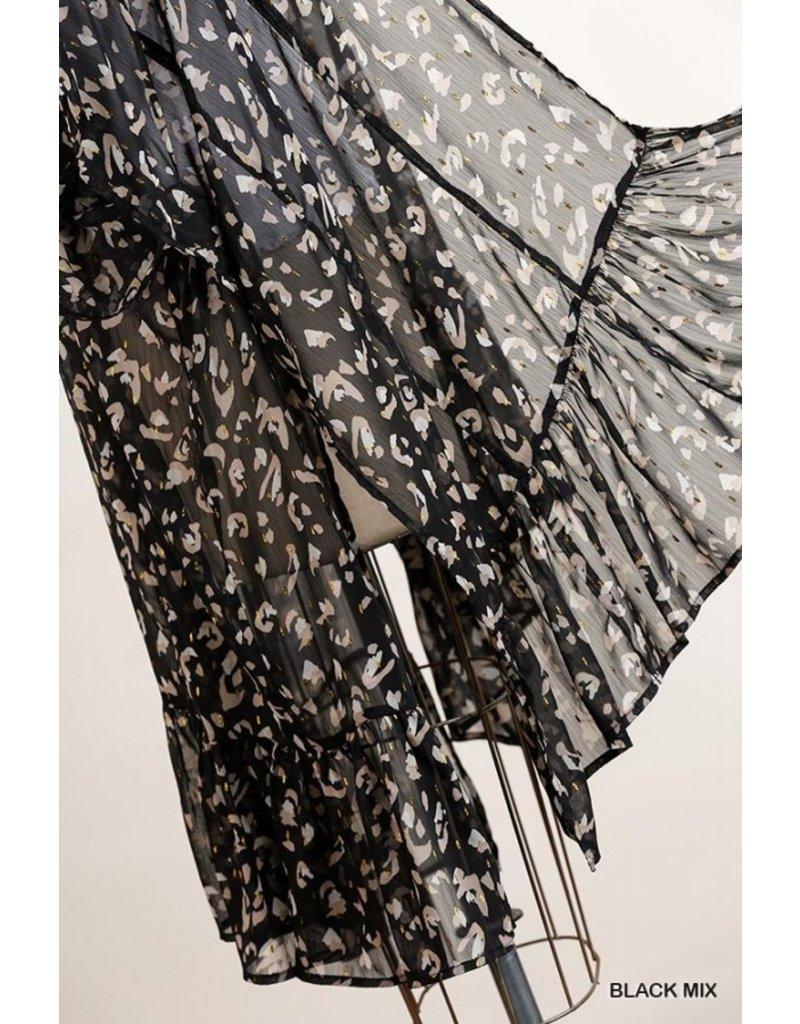 The Add Some Sparkle Leopard Kimono