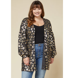 The All That Glistens Metallic Leopard Cardigan