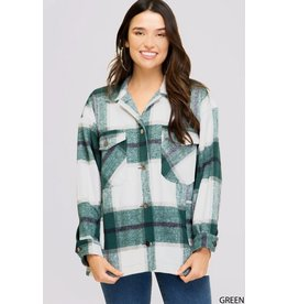 The Mad For Plaid Pocketed Shacket