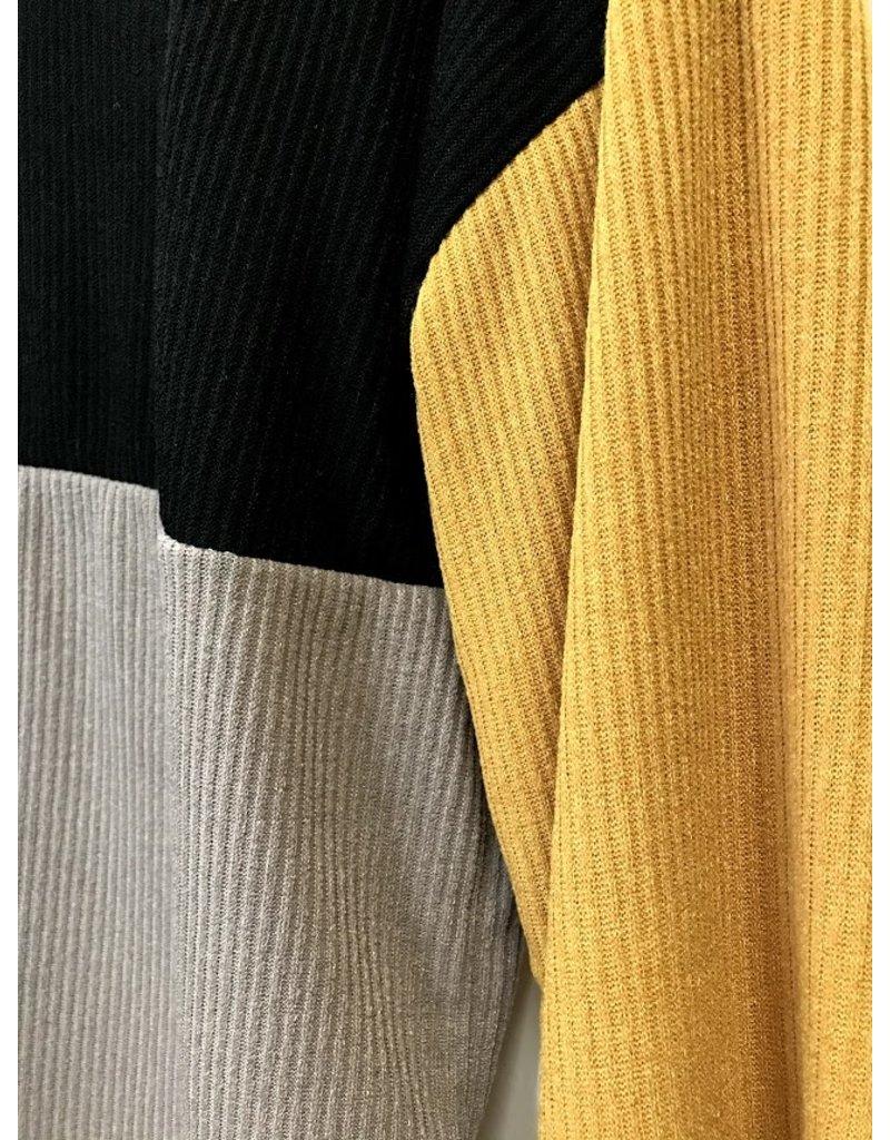 The Bella Color Block Rib Knit Top