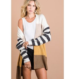 The Feelin' Good Color Block Cardigan
