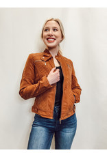 The World Awaits Quilted Faux Suede Jacket