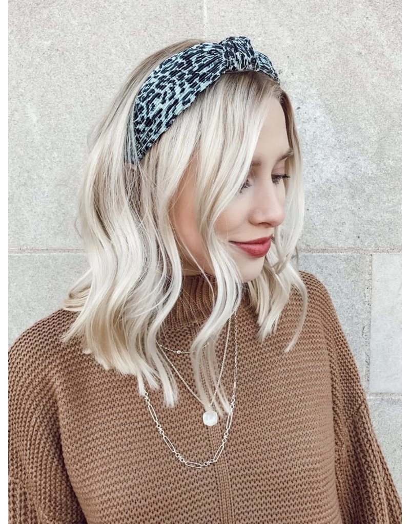 Blue Leopard Headband