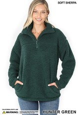 The Winter Bliss Quarter Zip Sherpa Pullover