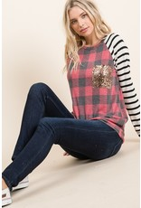 The Oh What Fun Plaid + Striped Top