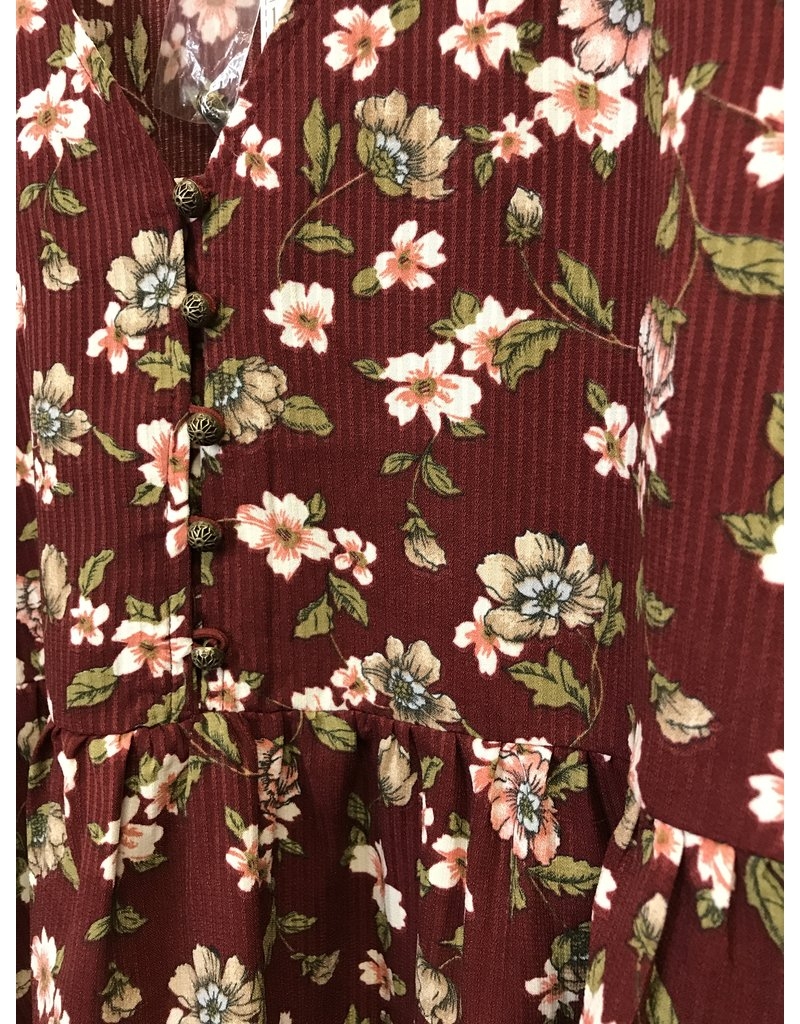 The Clove Floral Print Peplum Top