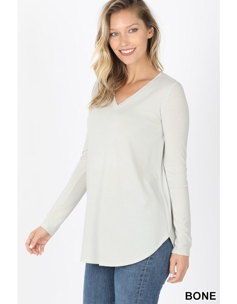 The Mags V-Neck Long Sleeve Top