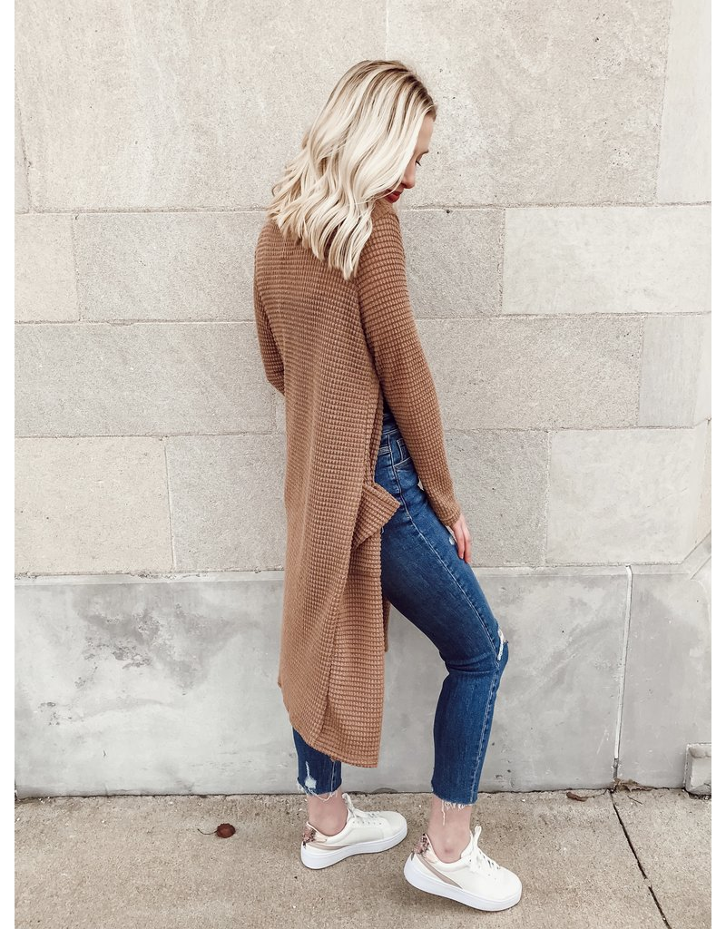 The Stroll In Style Waffle Knit Cardigan