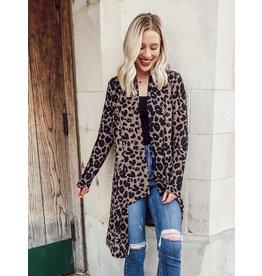 The Josie Leopard Print Cardigan