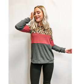 The Theo Leopard Color Block Top