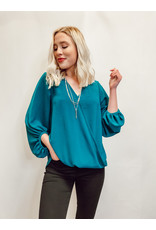 The Get Down To Business Wrap Blouse