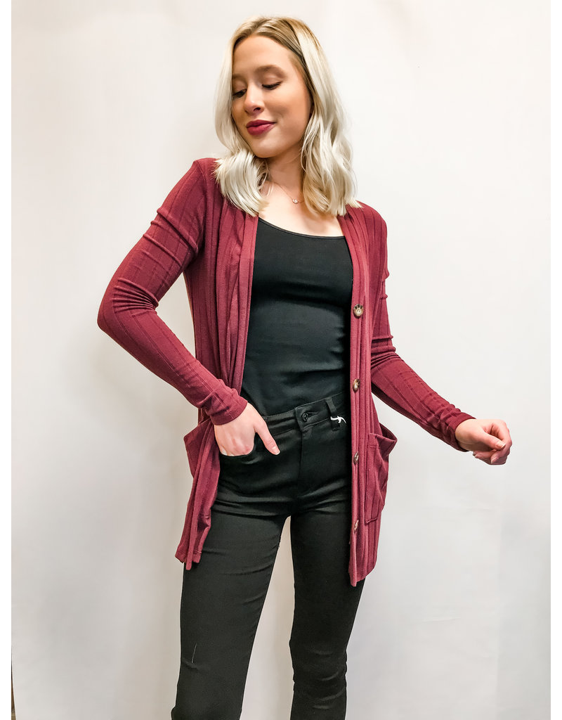 The On A Roll Pocketed Cardigan