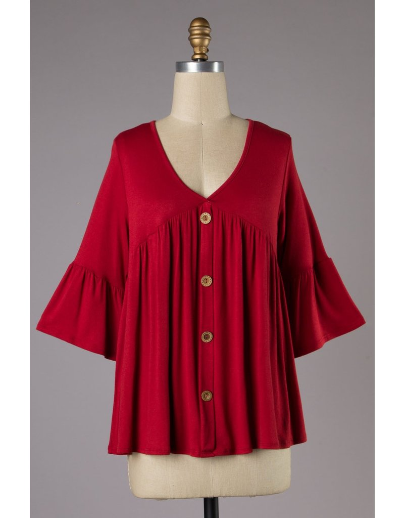 The Marvelous Bell Sleeve Babydoll Top