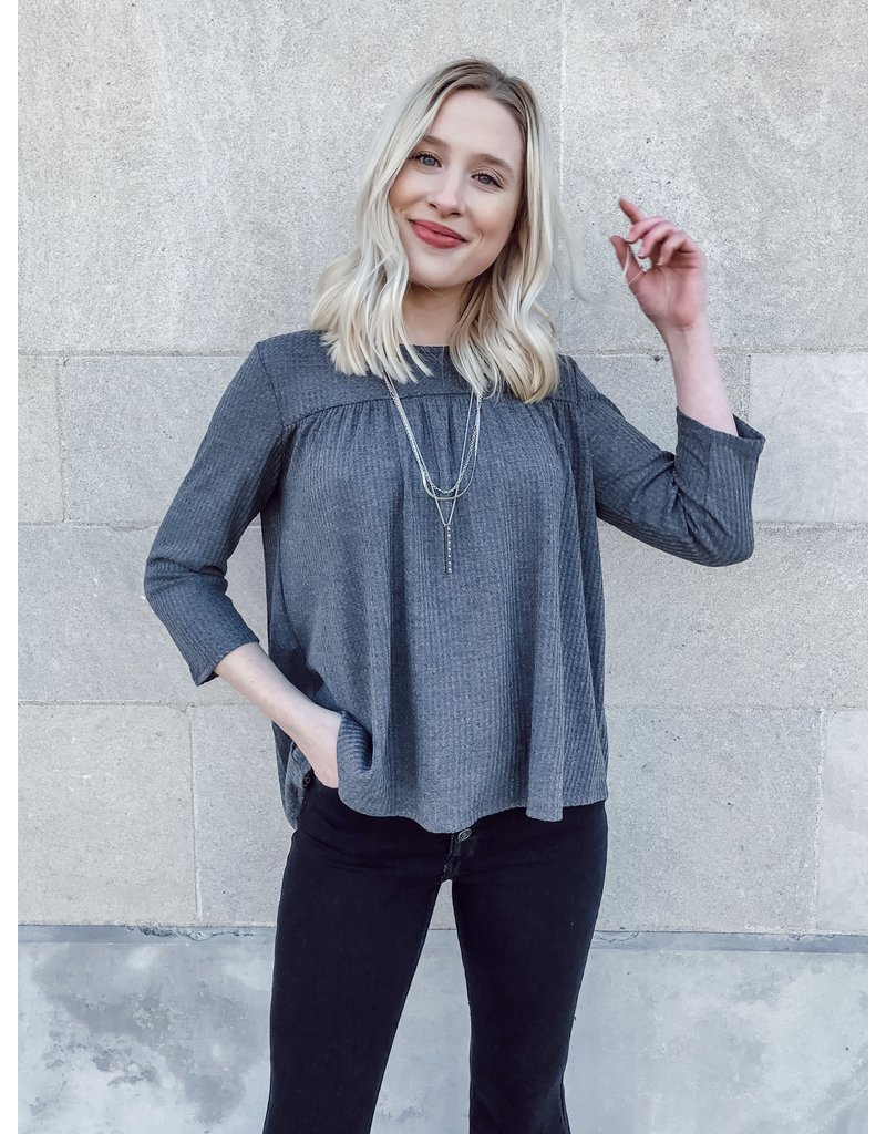 The Business Casual Babydoll Top