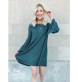 The Julie Pocketed Bell Sleeve Dress