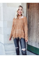 The Golden Gal Distressed Sweater