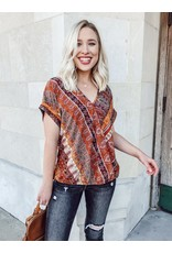 The Golden Sun Paisley Wrap Blouse