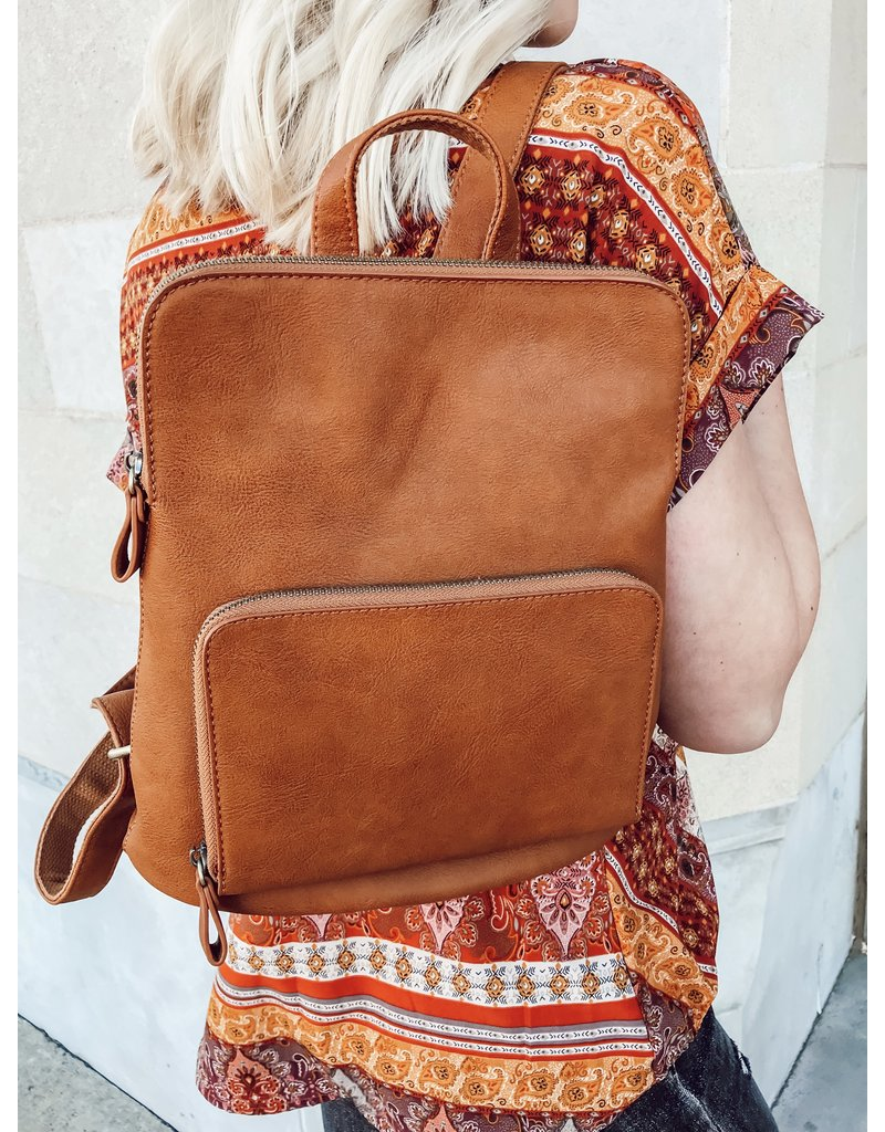 The Julia Mini Backpack - Cognac