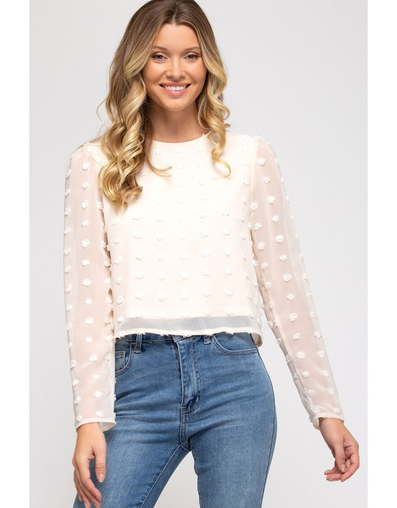 The Appearance Of Spring Swiss Dot Top