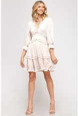 The Bride To Be Ruffled Satin Dress