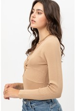 The A Chic Night Twisted Front Bodysuit