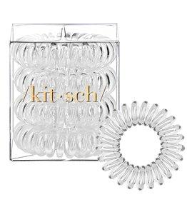 Kitsch Clear Hair Coils - 4 Pack