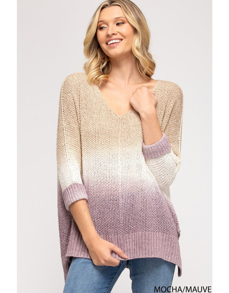 The What You Need Most Dip Dye Knit Sweater
