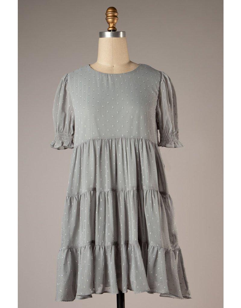The Got A Crush Metallic Babydoll Dress