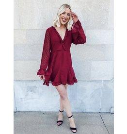 The Gracie Ruffled Swiss Dot Dress