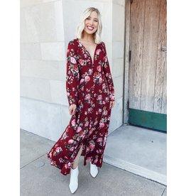 The Flower District Button Down Maxi Dress
