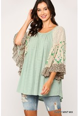 The Crazy For Florals Flyaway Sleeve Top
