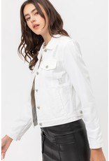 The Days Of Spring Distressed Denim Jacket - White