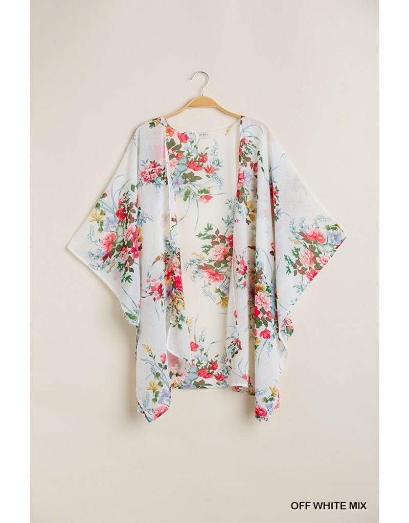 The Blooming Love Floral Print Kimono