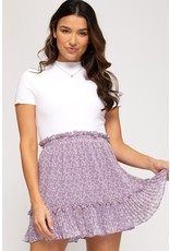 The Fields Of Lavender Pleated Skirt