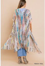 The On The Wild Side Printed Kimono
