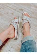 The Natalie Slip On Sandals - Snake
