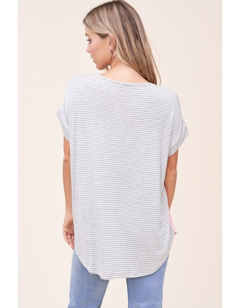The Two Roads Diverged Color Block Tee