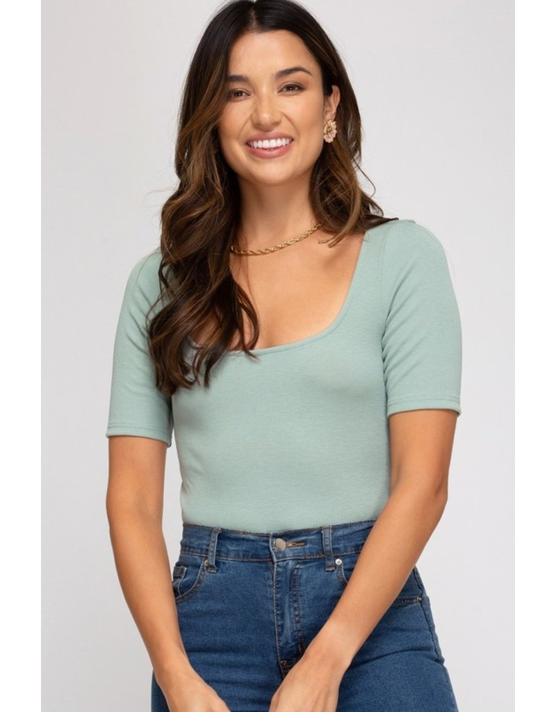 The Close To My Heart Rib Knit Bodysuit