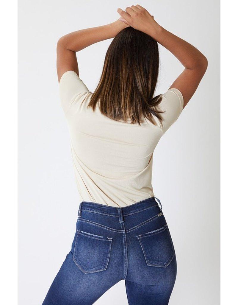 The Rachel Distressed High Rise Skinny - Curvy Style
