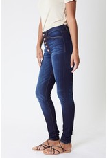 The Remy High Rise Button Fly Skinny - Curvy Style