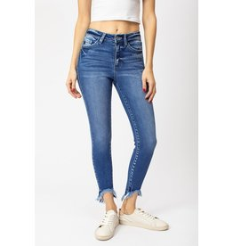 The Victory High Rise Frayed Hem Skinny