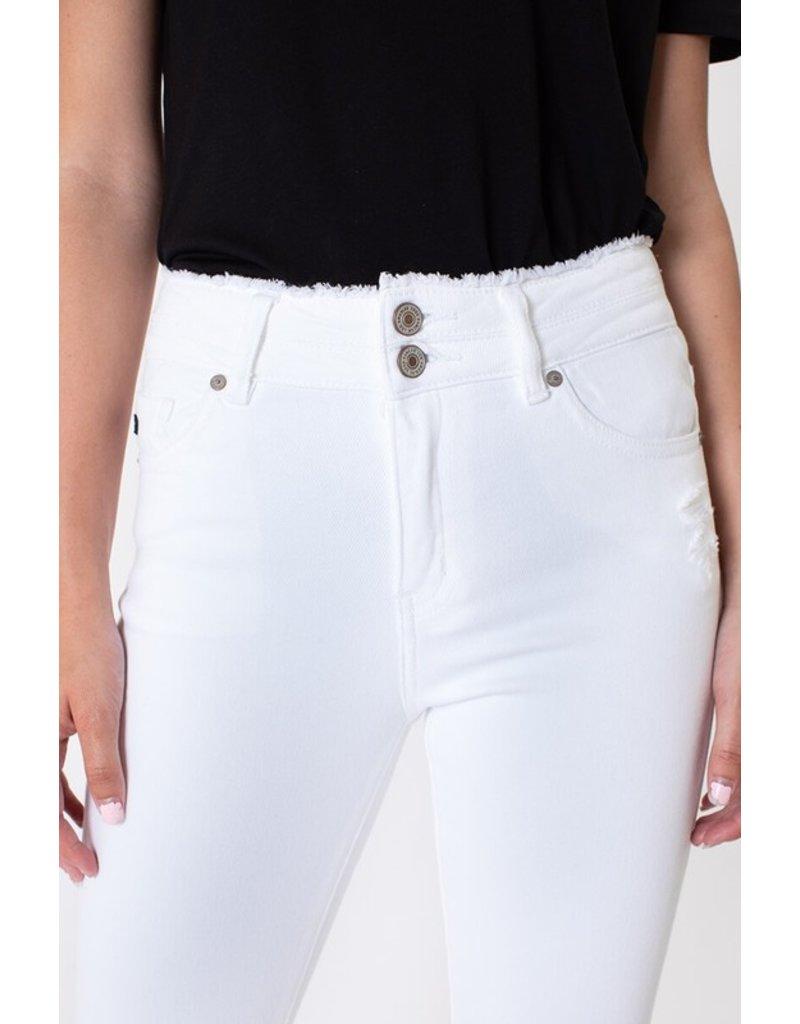 Deb Double Button Skinny - White