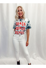 The Rock On Repeat Tie Dye Graphic Tee