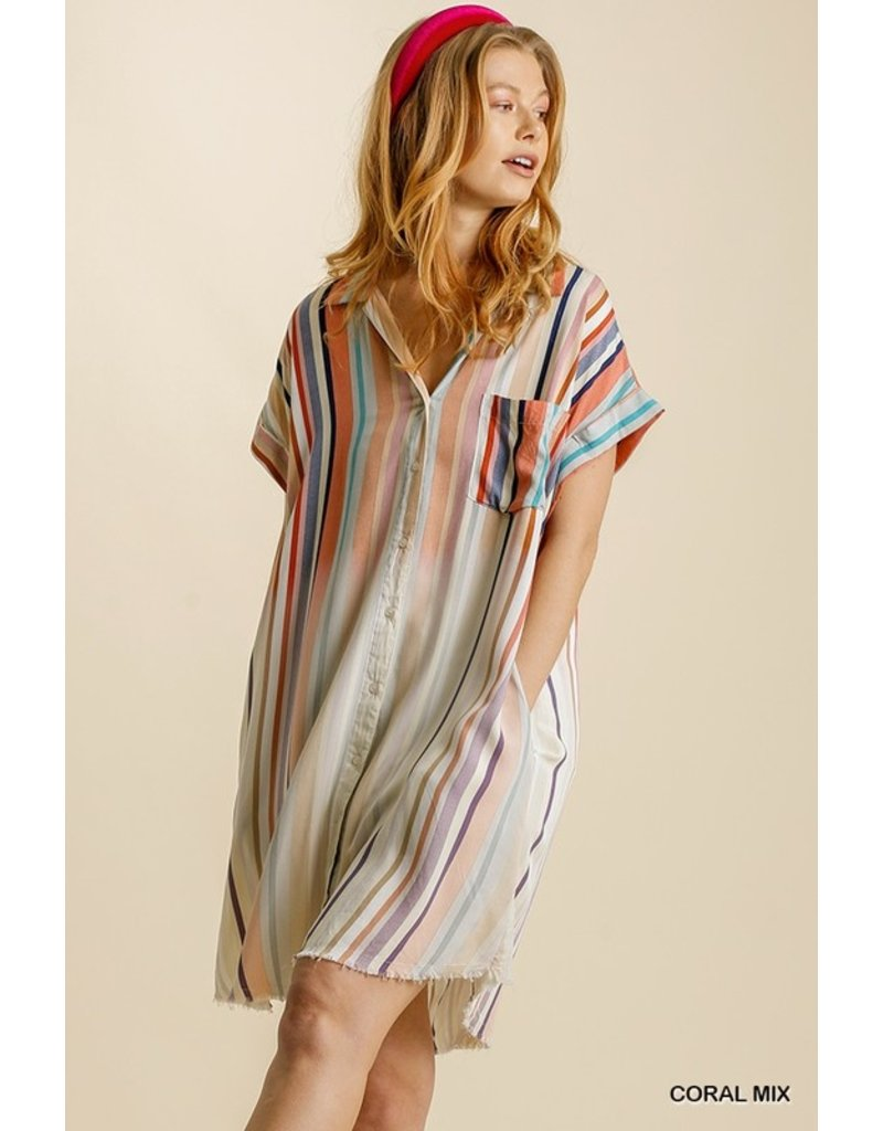The Sail Away Striped T-Shirt Dress