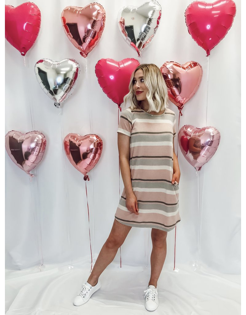 The You Belong With Me Striped T-Shirt Dress