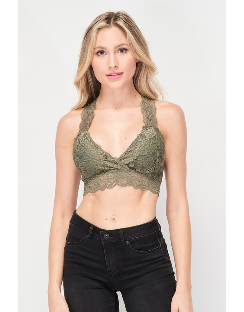 The Indulgence Lace Racerback Bralette