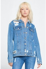 The Heads Up Distressed Denim Jacket